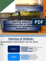 A Seminar on Bioassayprinciples of Bioassay