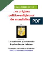 Ryssen, Hervé - Les Origines Politico-religieuses Du Mondialisme Vol I