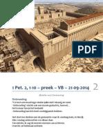 'Ontmoeting' - 1 Petrus 2, 1-10 - 21-9-2014