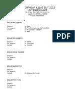 Pengurusan Kelab Elit 2012