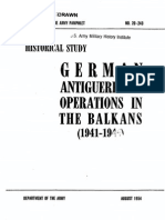 DA Pamphlet No. 20-243 (German Antiguerrilla Operations in the Balkans)
