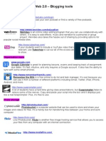 Web 2.0 Blogging Tools