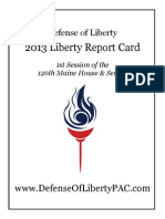 2013 Liberty Report Card