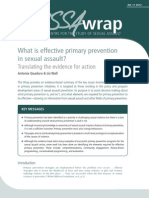Sexual Violenc and Primary Prevention