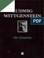 Wittgenstein, Ludwig - On Certainty (Blackwell, 1969)