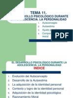 Diapositivas Tema 11 El Desarrollo Psicologico Durante La Adolescencia La Personalidad