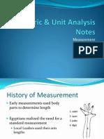 metric and unit analysis