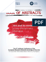 Book of Abstracts ESA Arts