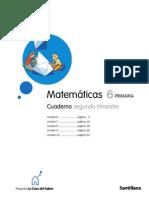 133050028 6º Primaria Matematicas Cuaderno Segundo Trimestre PDF