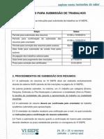 VI SIEPE - Instruções Para Submissão de Trabalhos