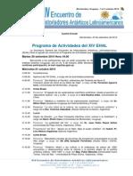Cuarta Circular - Programa del XIV EHAL - Uruguay 2014