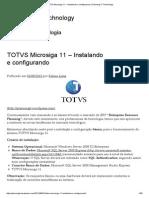 TOTVS Microsiga 11 – Instalando e Configurando