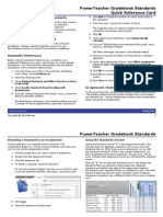 PTG Standards QuickRefCard