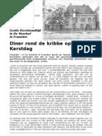 Persbericht Kerstdiner 2009 in de Voorhof