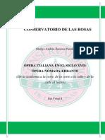 ÓPERA ITALIANA EN EL SIGLO XVII