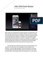 Apple September 2014 Event Review