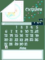 Calendario Octubre 2014