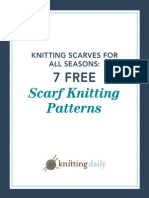 7 Free Knit Scarf Patterns