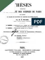 Thèse Picard (1877)