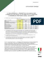 Juventus FC, Bilancio al 30.06.2014 (Comunicato)