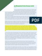 Sistem Distribusi Listrik Yg Dipakai Pln_langkah Strategis Mengatasi Krisis Energi Listrik