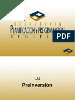 4.- La Preinversión