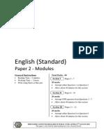 2010 Trial Standard English Modules Paper 2