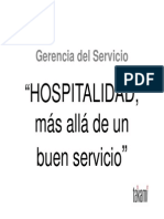 Hospitabilidad Mas Alla de Un Buen Servicio