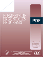 Elements of Ergonomics Program