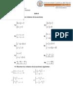 GUIA 4 Sistemas de Ecuaciones