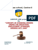 Standing Orders Labour Law Project