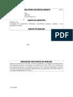 Relatório de Metalografia Amostra 2