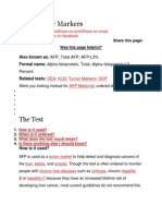 AFP Tumor Markers