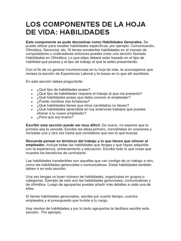 Increíble Ejemplo De Sección De Experiencia Viñeta - Colección De ...