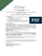 Vaga Alliage RJ - Analista de Produtos & Mercado Sênior - RJSP