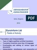 euroinform presentation 2012