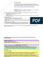 Sample Evidence for Foundation