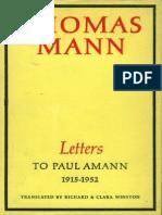 Mann Letters to Paul Amann,