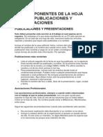9.Los Componentes de La Hoja de Vida - Publicaciones y Presentaciones