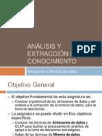 Analisis y Extraccion de Conocimiento - Almacenes y Mineria de Datos