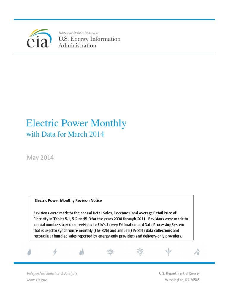 Electric Power Monthly: with Data for March 2014
