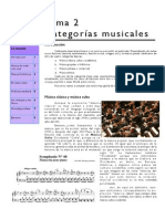 Tema 2 Categorías Musicales