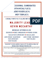 Lunch for Martha McSally, Andy Tobin, Arizona Congressional Victory Fund