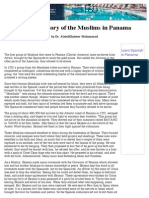 A Brief History of the Muslims in Panama