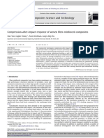 Compression-After-impact Response of Woven Fiber-reinforced Composites