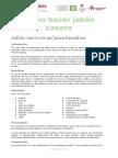 Información Taller Elaboración de Jabón