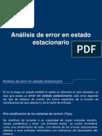 Error Estacionario - Clase