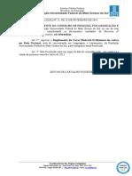 2014 03 17 Res 25 Propp Regulamento Profletras