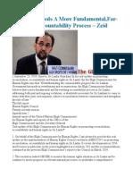 Sri Lanka Needs a More Fundamental,Far-Reaching Accountability Process – Zeid
