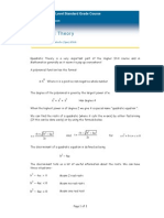 SG Quadratic Theory